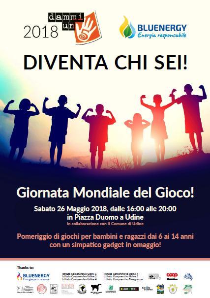 Dammi un 5 alla Giornata mondiale del gioco a Udine
